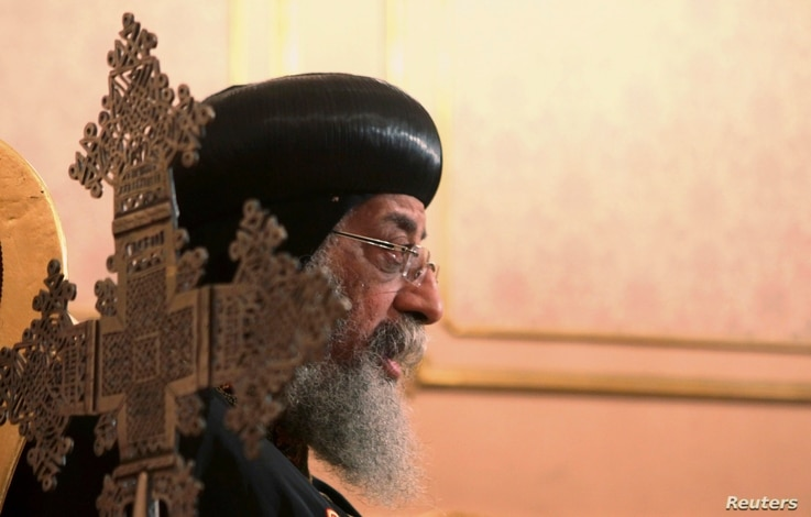 Coptic Pope Tawadros II says Egyptians Christians felt sidelined and neglected by the previous Muslim Brotherhood leadership in Cairo.,