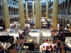 The Smithsonian Craft show at the National Building Museum          featured works by 120 artists.