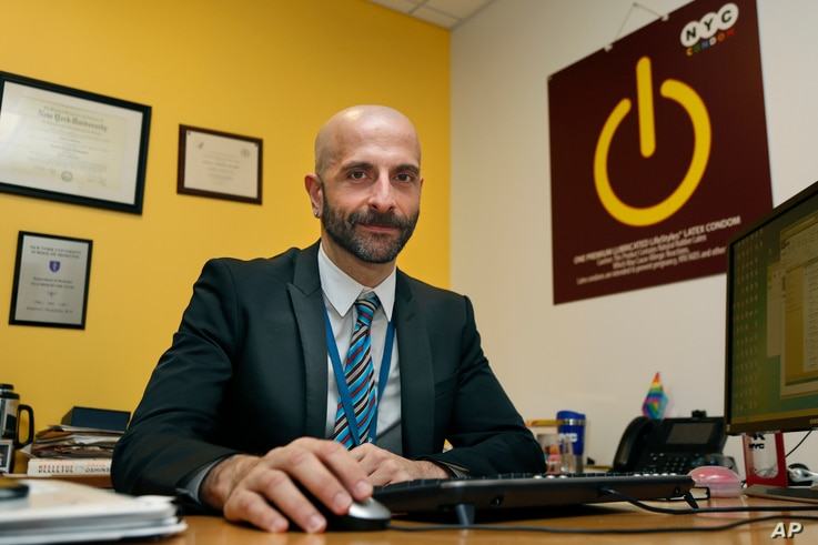 New York City Deputy Health Commissioner Demetre Daskalakis poses for a picture in his office in New York, on Wednesday, Dec. 20, 2017.