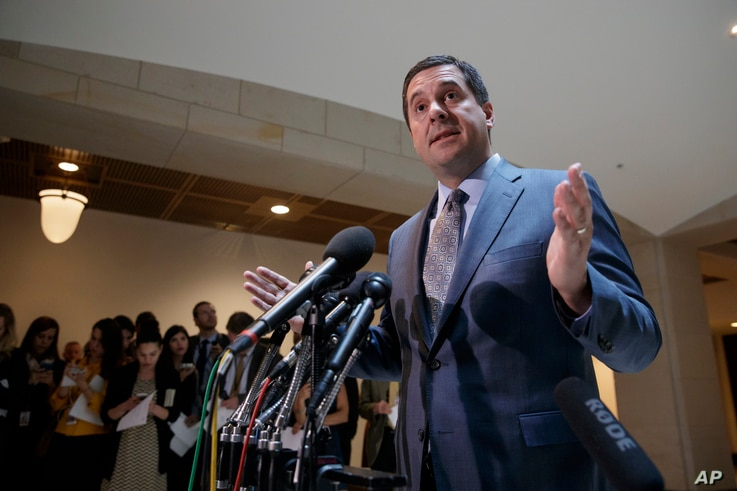 House Intelligence Committee Chairman Devin Nunes announces he will hold an open hearing on March 20 to investigate alleged Russian interference in the 2016 election, on Capitol Hill in Washington, March 7, 2017.