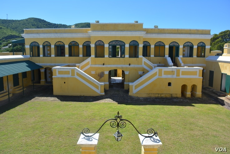 Fort Christiansvaern, built in 1738, is one of five historic structures in Christiansted's waterfront.