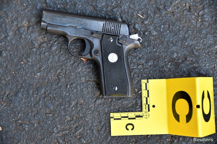 A pistol that police said was in the possession of Keith Lamont Scott is seen in a picture provided by the Charlotte-Mecklenburg Police Department in Charlotte, North Carolina, Sept. 24, 2016.