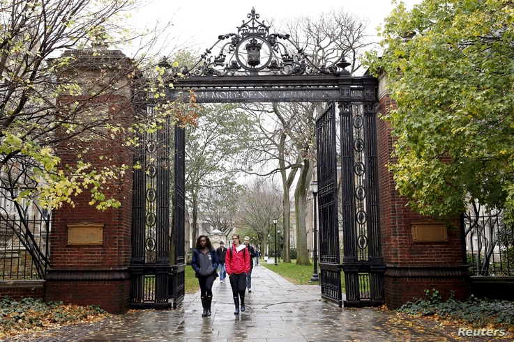 FILE PHOTO --  Students walk on the campus of Yale University in New Haven, Connecticut November 12, 2015.
