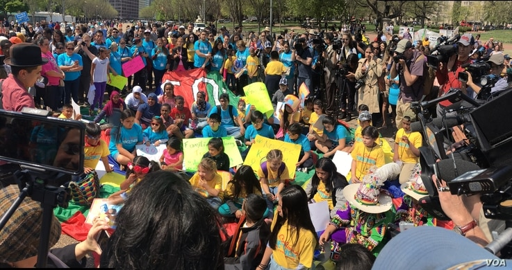 People from Florida, Colorado, North Carolina, Maryland and Virginia converged on Washington to tell President Donald Trump that We Belong Together—a campaign that focuses on the impact of the immigration policies on women and children, April 13, 2...