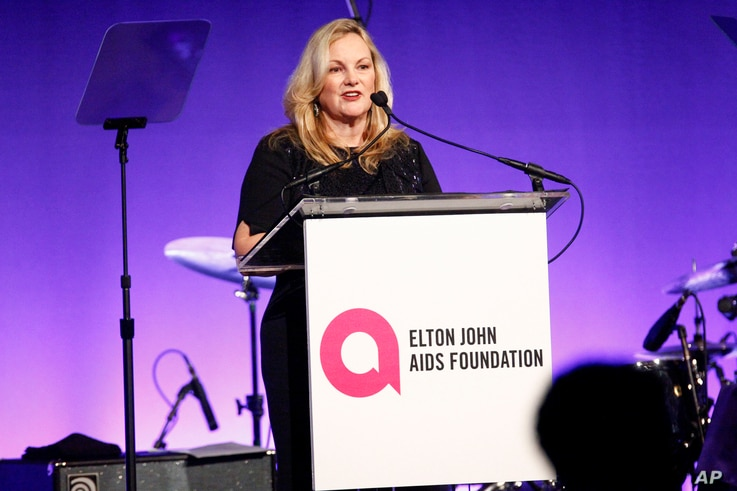 "Patricia Hearst attends the Elton John AIDS Foundation's 17th annual ""An Enduring Vision"" benefit gala at Cipriani 42nd Street in New York, Nov. 5, 2018."