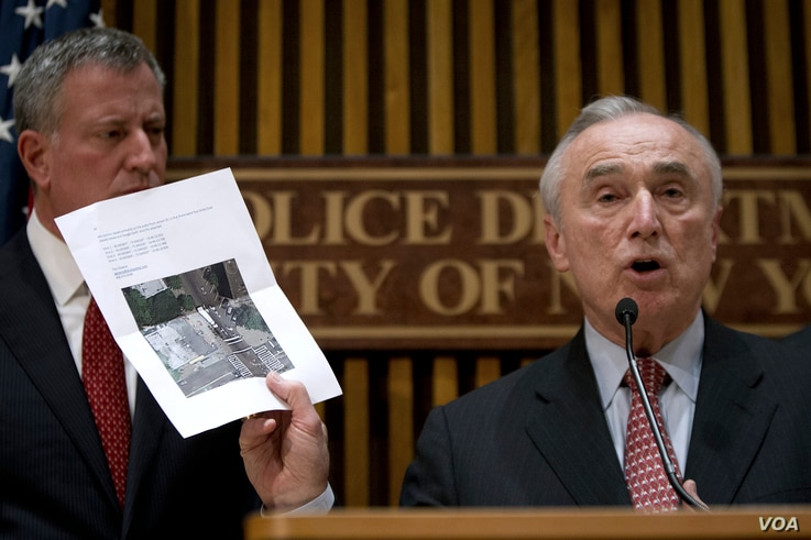 New York Police Commissioner Bill Bratton appears at a news conference about the two police officers who were shot in the head in the Brooklyn borough of New York, Dec. 22, 2014.