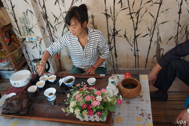 """Yunnan is home of half of China's 55 ethnic minorities, including a tea-growing hill tribe called the Akha. See met an Akha family whose daughter, Abhu, collected stories from village elders.  See's latest novel is """"The Tea Girl of Hummingbird Lane..."""