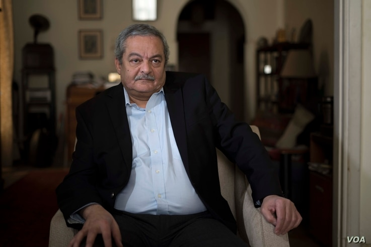 """Hisham Kassem, Egyptian editor and publisher, says """"it could be catastrophic""""  if governments fail to reach a deal on the Renaissance Dam, Cairo, Egypt, Feb. 26, 2018. (H. Elrasam/VOA)"""