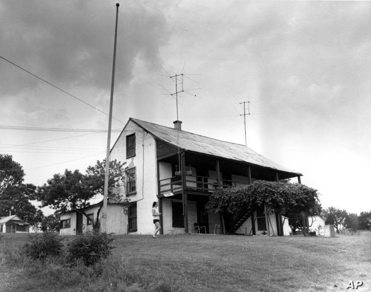 John Brown's farm, where he gathered weapons and plotted a raid for six months, is seen Oct. 10, 1959.