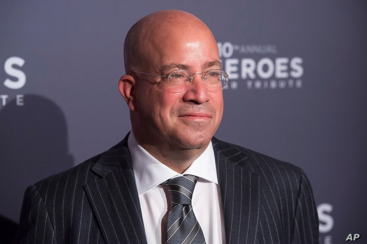 """FILE - CNN President Jeff Zucker, pictured in New York, Dec. 11, 2016, says his company's brand """"has been as strong as it has ever been"""" in the early days of the Trump administration."""