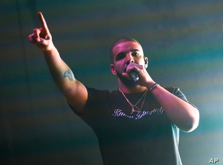 FILE - Drake performs at the FADER FORT Presented by Converse during the South by Southwest Music Festival in Austin, Texas.