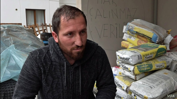 Construction worker Taner Mutlu unpaid for months and struggling to pay his rent and feed his family, is occupying the luxury apartment project he is working on.