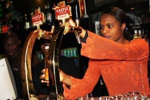 Johannesburg bar manager Candice Masondo expects to be very busy during the forthcoming football World Cup in South Africa