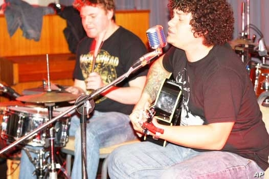 The music made by drummer Charles Dubber (left) and guitarist and singer Westley Engelbrecht has changed dramatically in recent times