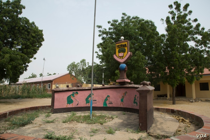 The Yerwa Girls Secondary School in Maiduguri, capital of Nigeria's Borno state, will reopen on Oct. 10, after being closed for more than two years because of the Boko Haram insurgency. Oct. 5, 2016. (C. Oduah/VOA)