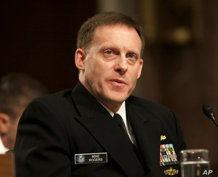 FILE - Admiral Mike Rogers, director of the National Security Agency and commander of U.S. Cyber Command.