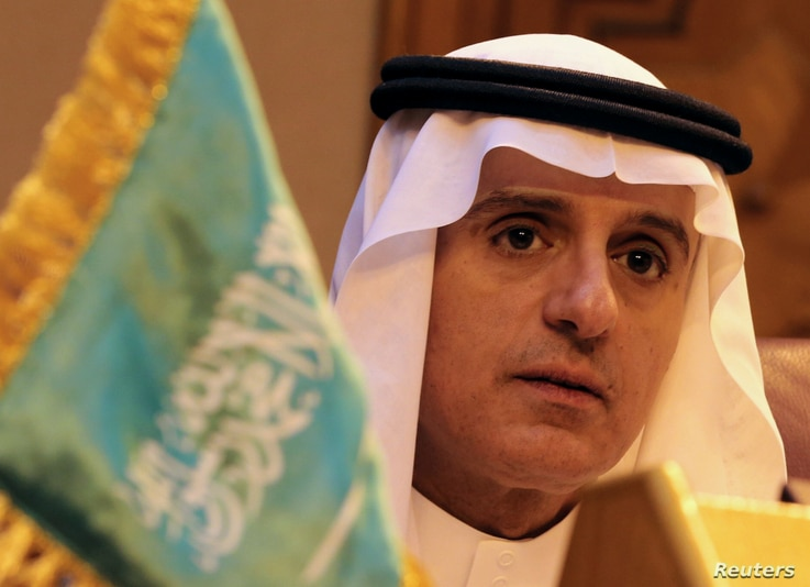 Saudi Foreign Minister Adel al-Jubeir attends the Arab Foreign Ministers meeting to discuss the Syrian crisis in Cairo, Egypt, Monday Dec. 19, 2016.