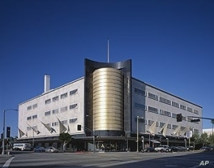 The May Co. store in Los Angeles, now a branch of the county art museum, was a 'streamline moderne' showplace.