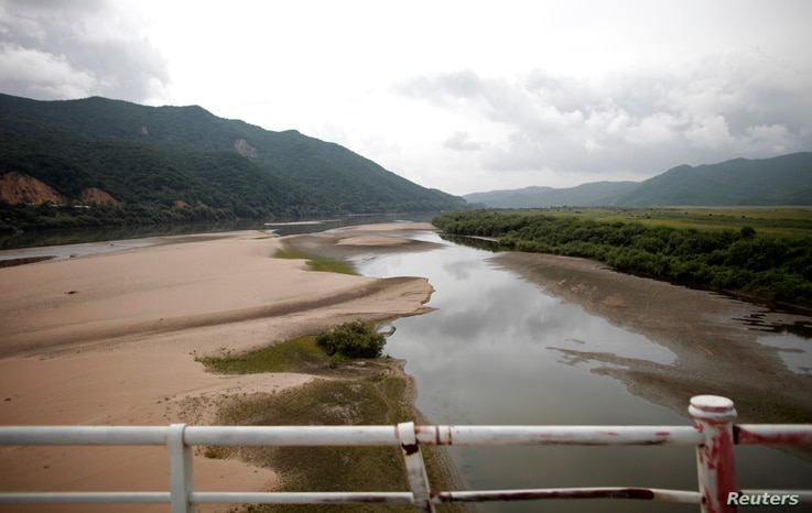 A part of the Tumen River is seen at the border between China and North Korea in Wonjong-ri, Rason, North Korea, Aug. 29, 2011.