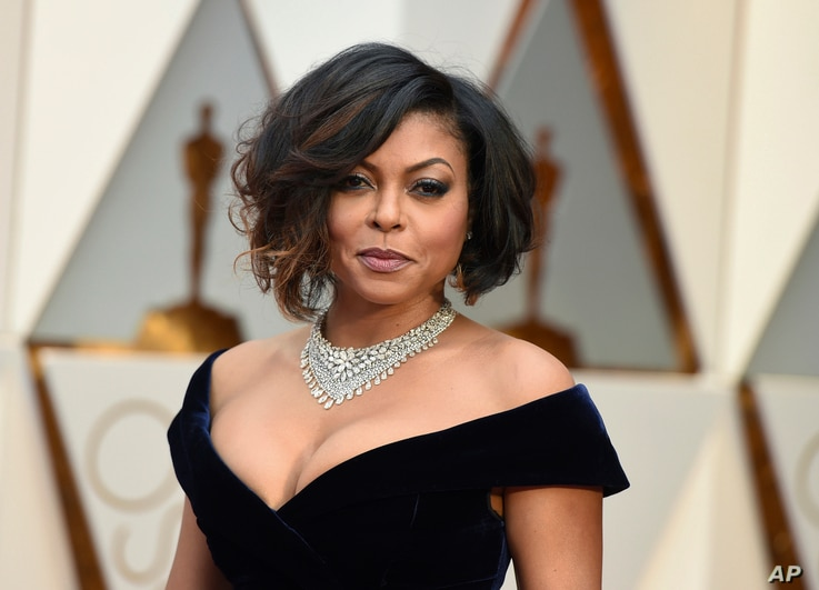 Taraji P. Henson arrives at the Oscars on Feb. 26, 2017, at the Dolby Theatre in Los Angeles.