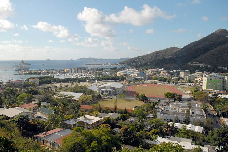 A general view of Road Town, Tortola in the British Virgin Islands, Friday, April 3, 2009. Corporations have long parked earnings in tax havens like the BVI in order to avoid paying Federal income tax.