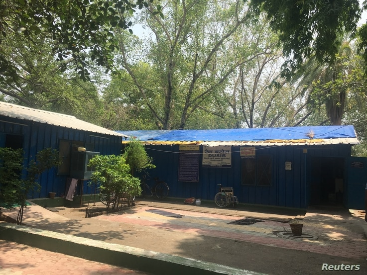 A portable shelter for homeless people in New Delhi, which has among the most homeless people in India, July 4, 2018.