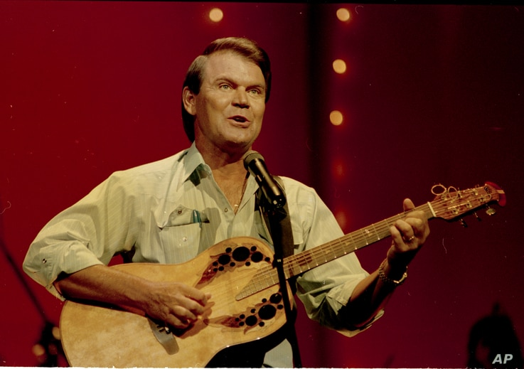 Country star Glen Campbell is seen performing, 1987.