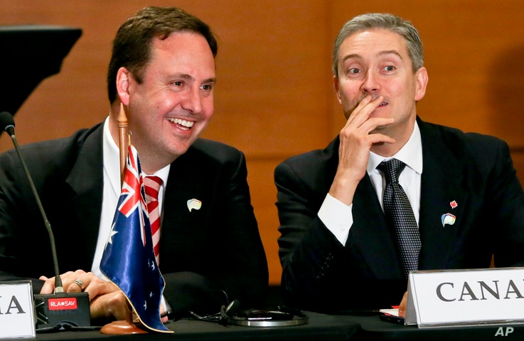 FILE - Canadian Trade Minister Francois-Philippe Champagne is pictured at a Trans-Pacific Partnership meeting in Vina del Mar, Chile, March 15, 2017.