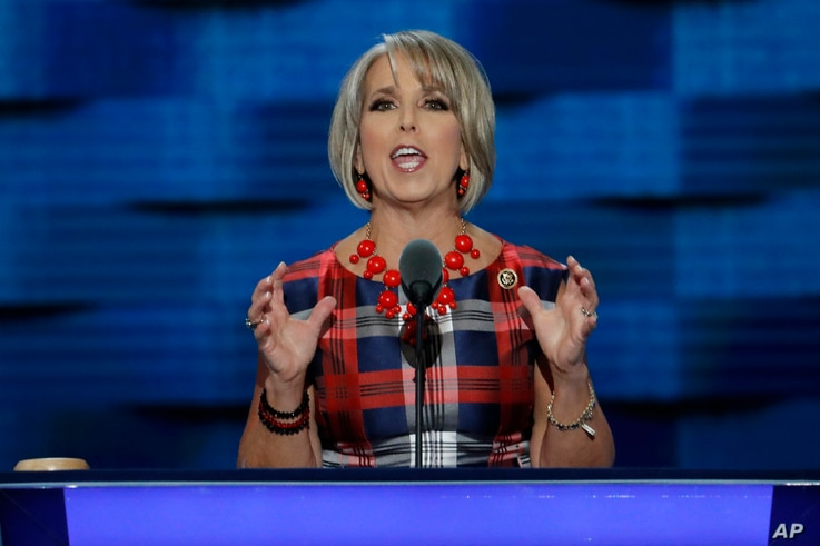 Rep. Michelle Grisham, D-N.M., speaks during the third day of the Democratic National Convention in Philadelphia, Pennsylvania, July 27, 016.