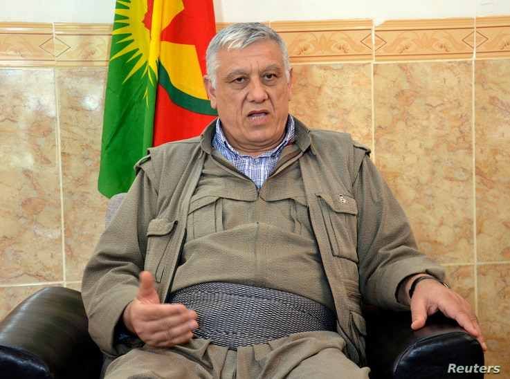 Cemil Bayik, a founding member of the Kurdistan Workers Party (PKK), speaks during an interview with Reuters at the Qandil mountains near the Iraq-Turkey border, October 19, 2013. Kurdish rebels are ready to re-enter Turkey from northern Iraq, Bayik,...