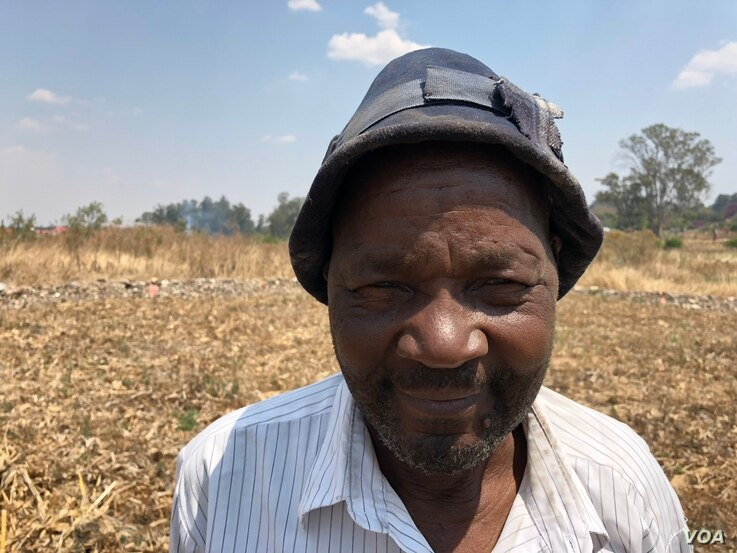 Leo Yuma, a maize farmer in Harare, says he depends on his crop for survival, Sept. 5, 2018.