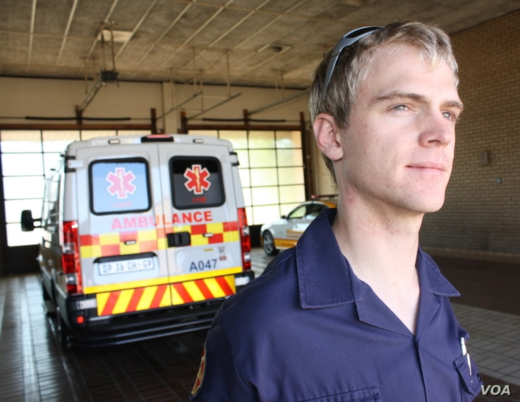 """Paramedic Victor Voorendyk says he sees """"disorganization and chaos"""" on South Africa's roads, and is often witness to death and serious injury."""