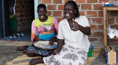 Fatuma, a widow with four children, earns $100 a month rolling beads for Bead for Life. (Courtesy Bead for Life)
