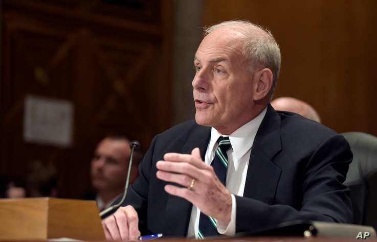 Homeland Security Secretary John F. Kelly testifies on Capitol Hill in Washington, Tuesday, June 6, 2017, before the Senate Homeland Security and Governmental Affairs Committee hearing on the fiscal year 2018 budget.