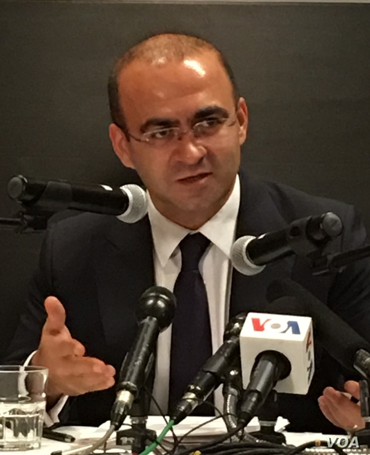 Taha Ozhan, who chairs the Foreign Affairs Commission in Turkey's Grand National Assembly, met with U.S. officials in Washington, D.C., Aug. 1, 2016. (S. Herman/VOA)