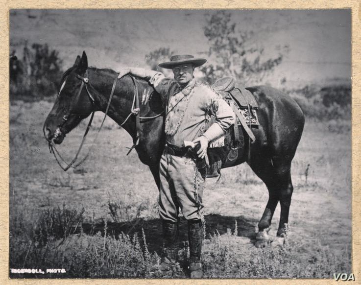 Theodore Roosevelt in the Badlands of Dakota Territory, 1884. Courtesy: Library of Congress Prints and Photographs Division. TR Digital Library, Dickinson State University.