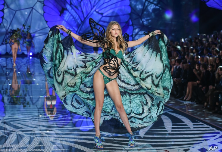 Model Gigi Hadid walks the runway during the 2015 Victoria's Secret Fashion Show at the Lexington Armory on Nov. 10, 2015, in New York.