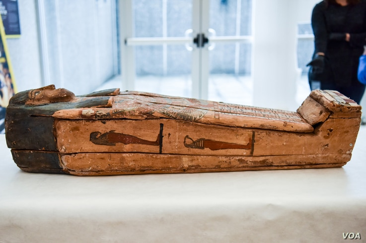 Shown, one of five artifacts returned to Egypt during a ceremony at the Egyptian Embassy, Washington, D.C., Dec. 1, 2016.  Courtesy:  U.S. Immigration and Customs Enforcement.