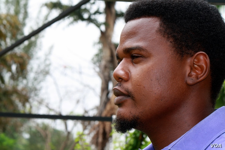 Ayo Omolale, 30, is a political science student at the University of Abuja.  He says two weeks after the girls were kidnapped the public is increasingly frustrated by the government's failure to save them, Abuja Nigeria, April 28, 2014.  (Photo: Heat...