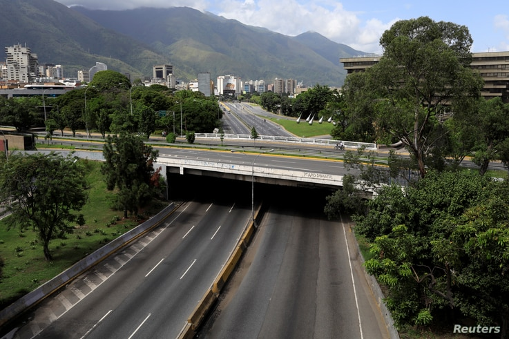 Caracas's main highway is seen empty during a strike called to protest against Venezuelan President Nicolas Maduro's government in Caracas, Venezuela, July 20, 2017.