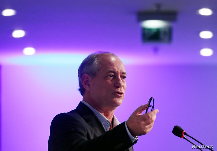 Presidential candidate Ciro Gomes of the Democratic Labour Party (PDT) attends an event in Sao Paulo, Brazil, Aug. 20, 2018.