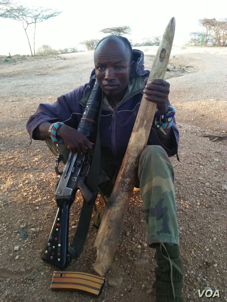 First poacher arrested in Kenya this year on March 10. (Photo courtesy of Northern Rangeland's Trust)