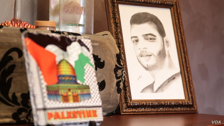 Ahmad died age 20, electrocuted by one of the many cables that line the streets of Bourj al Barajneh. He is one of dozens to have died in similar circumstances in recent years. (J. Owens/VOA)
