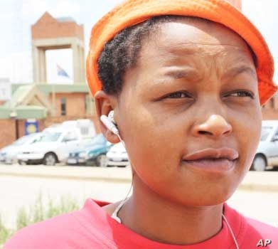 A lesbian resident of Vosloorus, Sweeto Makghai, says the South African police treat lesbians like criminals