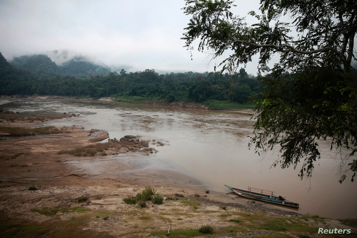FILE - View of the Salween River seen from a small Thai-Karen village Tha Tafang on the Thai side of the river Nov. 17, 2014.