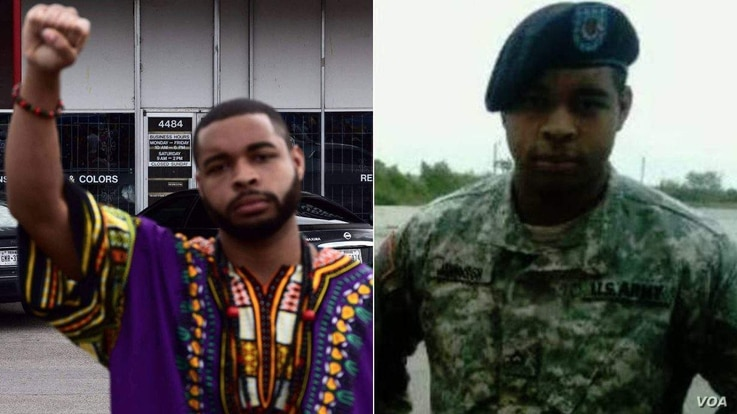 Micah Johnson, the suspect in the Dallas shooting, is seen in this undated Facebook post.