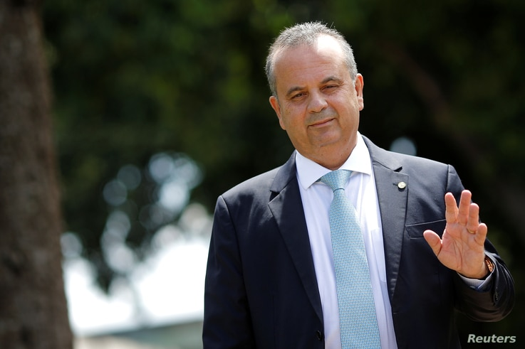 Brazil's Secretary of Social Security Rogerio Marinho is seen as he leaves the Ministry of Economy building in Brasilia, April 2, 2019.