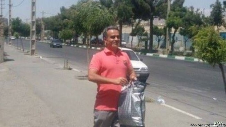 The Center for Human Rights in Iran (CHRI) says Iranian authorities released civil society activist Jafar Eghdami, seen here in this undated photo, from a prison in Karaj on Aug. 13, 2018 after he served a 10-year sentence for photographing Khavaran ...