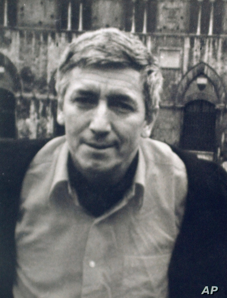 FILE - Undated file photo of of Bulgarian dissident Georgi Markov. Markov, a renowned writer and journalist. In 1978, Markov died after an unidentified man fired a poison-laced pellet into him from a special mechanism concealed in an umbrella.