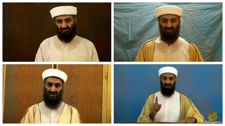 A combination of images shows various takes of Osama bin Laden from video images released by the U.S. Pentagon, May 7, 2011.